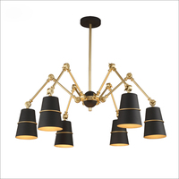 Lanting Pavilion Is The Cardinality Of The Nordic Modern Minimalist Model Room Office Chandelier Lamp Iron