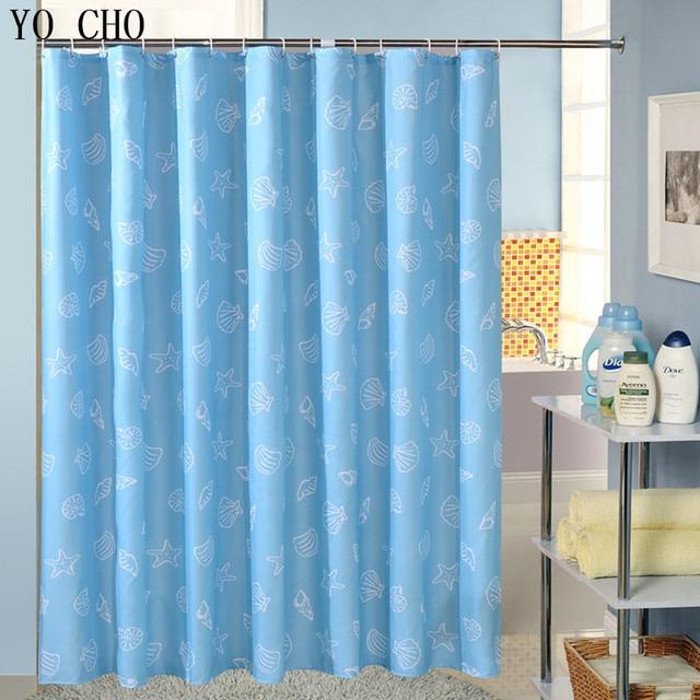 Starfish Polyester Terylene Blue Sea Life Seashell Waterproof Shower Curtain  Thicken Shower Curtain Bathroom Curtain With