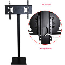 32-70 inch LCD LED Plasma Monitor TV Mount Floor Stand Tilt Swivel AD Display Wire Management Height Ajustable 32 60 inch lcd led plasma tv mount floor display stand carts trolley with dvd holder and camera holder