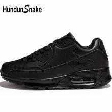 b0f0c620c Hundunsnake وسادة هوائية Krasovki الرجال الخريف الجلود أحذية رياضية للرجال  النساء السود رياضية للرجال المدربين الأحذية المشي G-2.