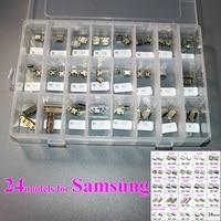 ChengHaoRan 24 Models Micro USB Connector Socket Charging Port Flex Cable Repair Parts For Samsung S8