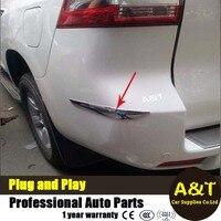 Chrome Rear Bumper Protector Trim Fit For 2010 2014 For Toyota Prado High Quality Chrome Stickers