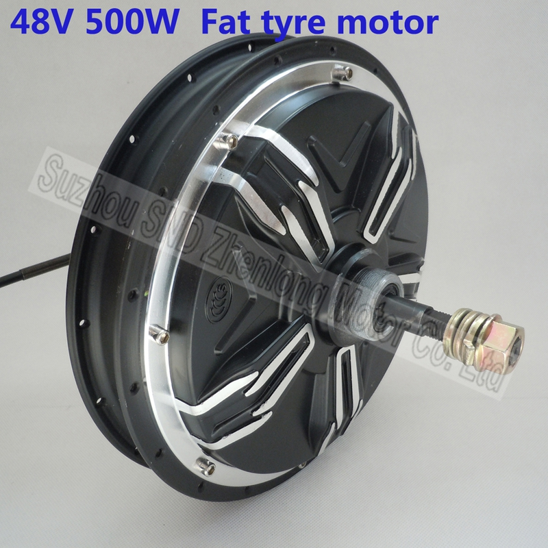 Electric bike fat tyre rear spoke hub motor 48v 500w for Brushless dc motor cost