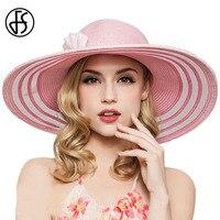 Feathers Rhinestone Women Hat Straw Beach Cap Pink Beige Wide Big Brim Summer Hats For Women