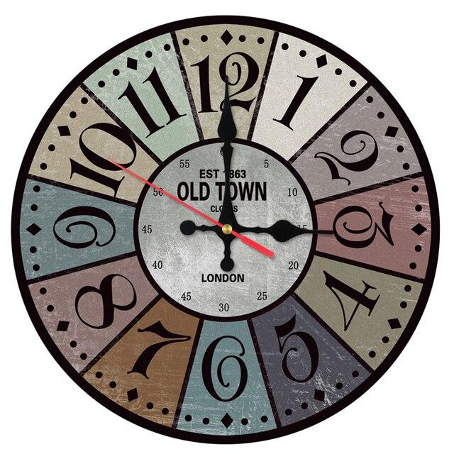 Hot Wall Clocks Special Digital Decor Wooden Stickers Quartz Watch Antique Style Still Life Clock