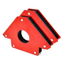 Braçadeira magnética do neodímio do ímã da soldadura do multi ângulo de 2 pces para a sução elétrica do ferro da soldadura que segura ferramentas s 12kg