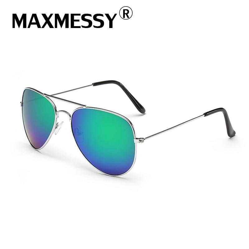 MAXMESSY Men Women Hiking Eyewear Aviator font b Sunglasses b font Unisex Pilot Sun Glasses Coating