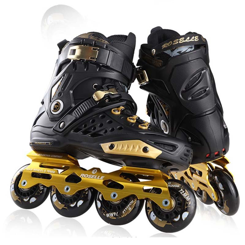Slalom Inline Skates Slalom Roller Skates Shoes Sliding Free Street Brush Skating Professional Adult Good As SEBA Patines IA17 labeda slalom inline skates 4 wheels adult skating shoes with rocking type pu wheels for free skating sliding street skating