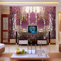 Customizable Modern 3d Photo Non Woven Mural Wallpaper Fantasy Fairyland Old Tree Bedding Room TV Background