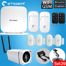 2017 Etiger Secual Box Wi-Fi / GSM Alarm  system security home kit 433MHZ IOS & android APP control outdoor Wifi IP Camera alarm