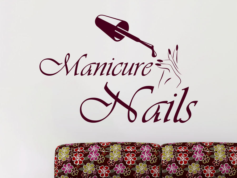 High quality girls beauty salon wall decal nails salon for Stickers salon design