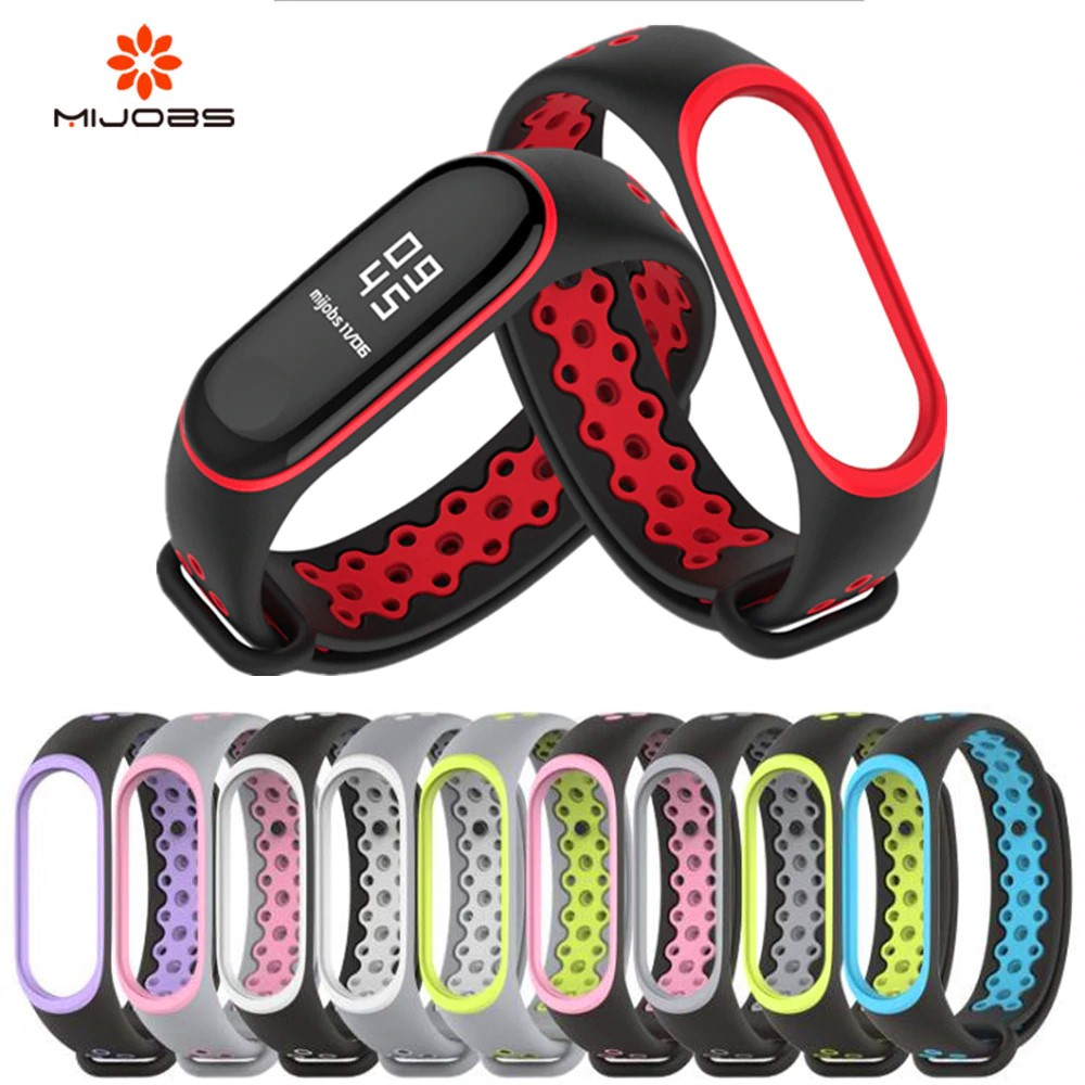 Mi Band 3 Strap Bracelet wrist strap watch For Mi band3 accessories smart bracelet sport Silicone Strap for mi band 4