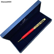 High-grade gold powder, oil crystal pen creative elements metal , crystal gifts pens, hourglass ball point pen without box 2018(China)