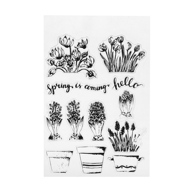 Silicone Transparent Stamp Clear Stamp Letter/Flowers/Travel Events DIY Scrapbooking Card Making Album Decoration Party Supplies