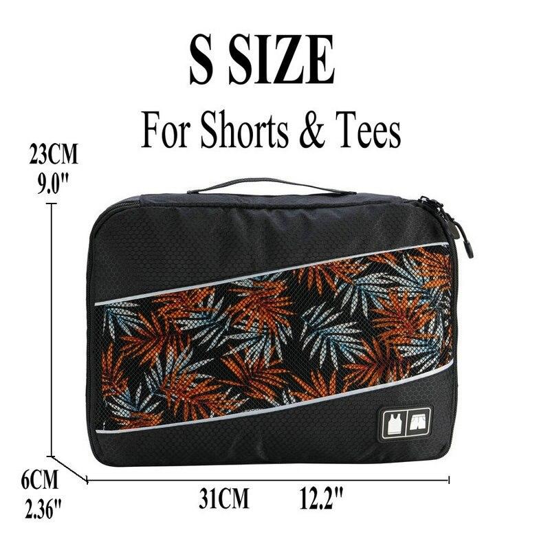 Soperwillton упаковочные кубики, нейлоновая дорожная сумка-Органайзер, Воздухопроницаемая сетчатая дорожная сумка для мужчин и женщин, органайзер для путешествий - Цвет: Black S