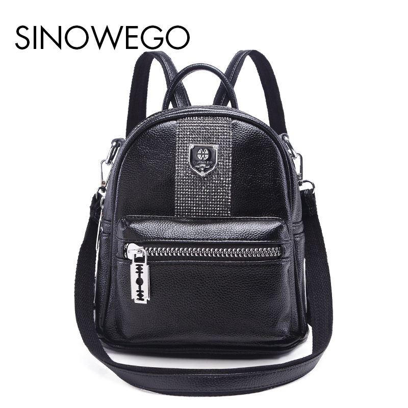 2018 New Fashion Mini Kanken Backpack Female Backpack Schoolbag Mini Backpack Women For Girls Genuine Leather Backpack School