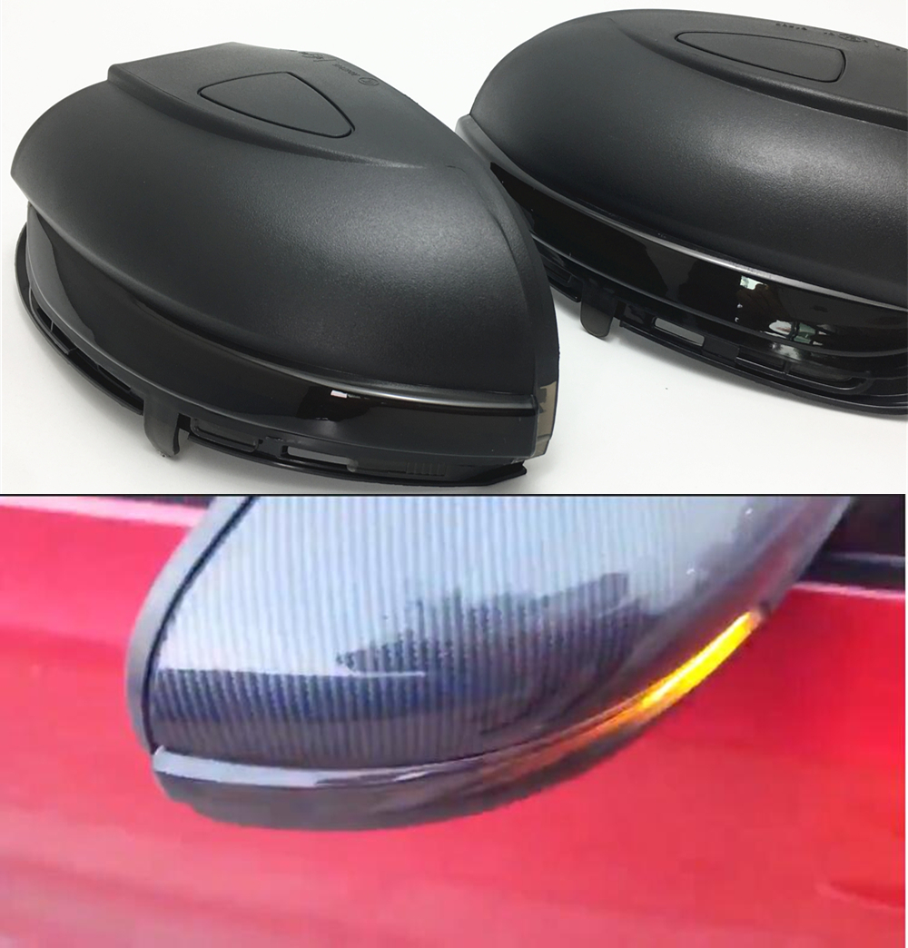Turn Signal LED Side Wing Rearview Mirror Indicator Blinker Dynamic Repeater Light For VW GOLF 6 MK6 GTI R32 08-14 Touran wing mirror glass indicator for vw golf 5