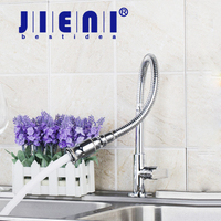 E Pak Free Shipping DL8551 3 2 All Around Rotate Swivel Kitchen Faucets With Plumbing Hose