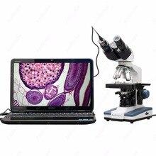 Buy Binocular Compound Microscope–AmScope Supplies 40X-2500X LED Digital Binocular Compound Microscope w 3D Stage +1.3MP USB Camera