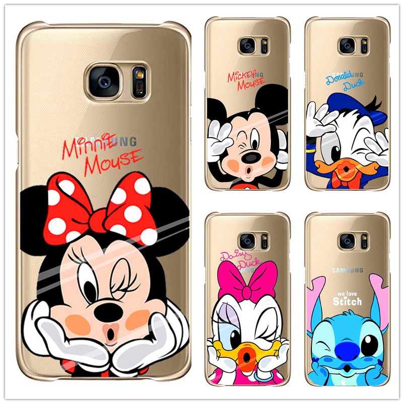 Hot Cartoon Cute Mickey Minnie case For Samsung Galaxy S3 S4, S5 mini plus S6 S7 Edge Note 2, 3, 4, 5 Soft Silicone TPU shell