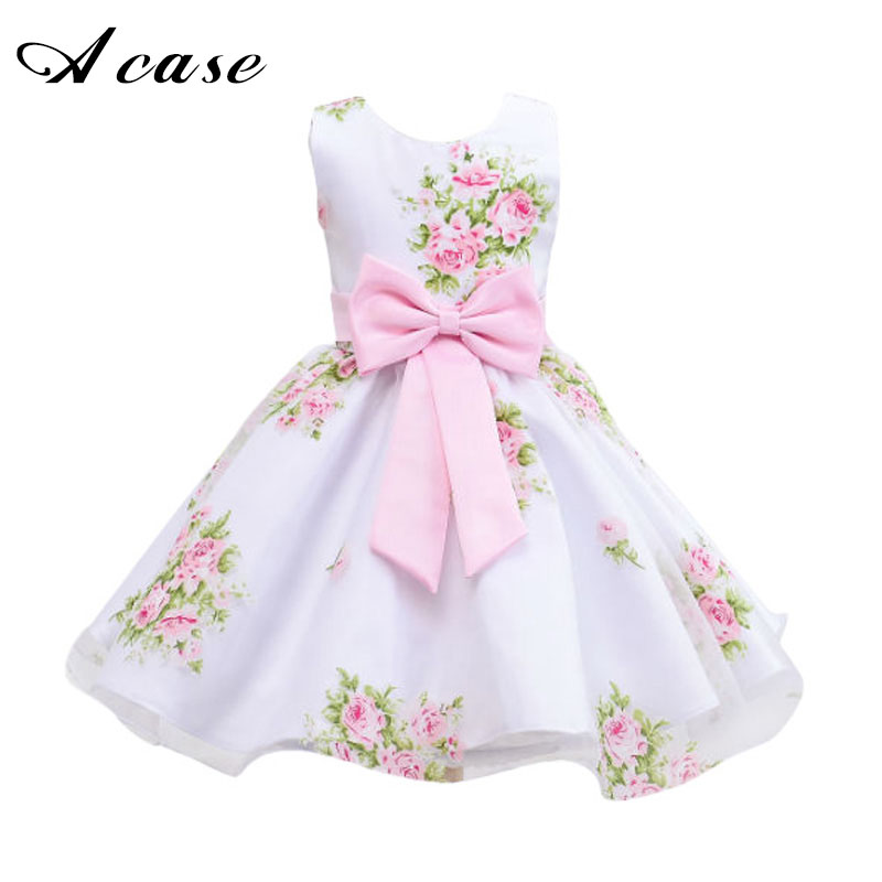 New Style 2018 Summer Girl Floral Flower Girls Dress for Wedding Party Kids Children 2 3 5 6 7 9 10 11 Years Sleeveless Dresses summer flower children princess dresses for wedding and party 1 2 3 4 5 6 7 8 years girls clothes new style toddlers kids dress