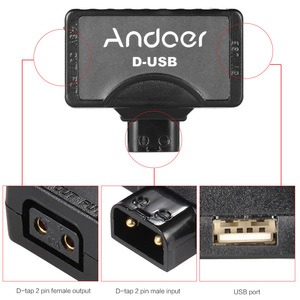 Image 2 - Andoer D Tap 5V USB Adapter Connector for V Mount Camcorder Camera Battery for BMCC Smartphone Monitor USB Adapter Connector