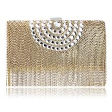 2016 new women bag European luxury banquet bride handbag exquisite ladies wedding party fringed evening bags handbags messenger
