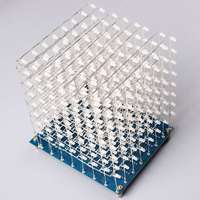 LEORY 8x8x8 512LEDs Blue LED Light Cube Kit 3D LED DIY Kit Electronic Suite for Arduino Smart Electronics Led Cube Kit DIY