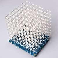 LEORY DIY 3D LED Light Cube Kit 8x8X8 512 LED Fog Lamp Diy Electronic Kit With