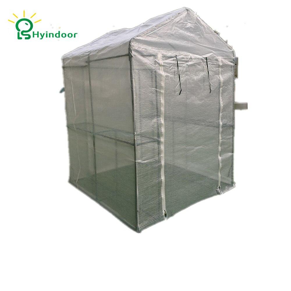 Serre de jardinage à grille Hyindoor conservatoire imperméable à l'eau de luxe promenade dans les serres