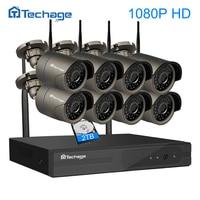 Techage 8CH 1080P FULL HD Wireless NVR Kit WIFI CCTV System IR Outdoor P2P 8PCS 2