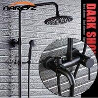 Полный Медный черный бронзовый Душ с Набор американский дождь Душ Ретро Туалет XT307