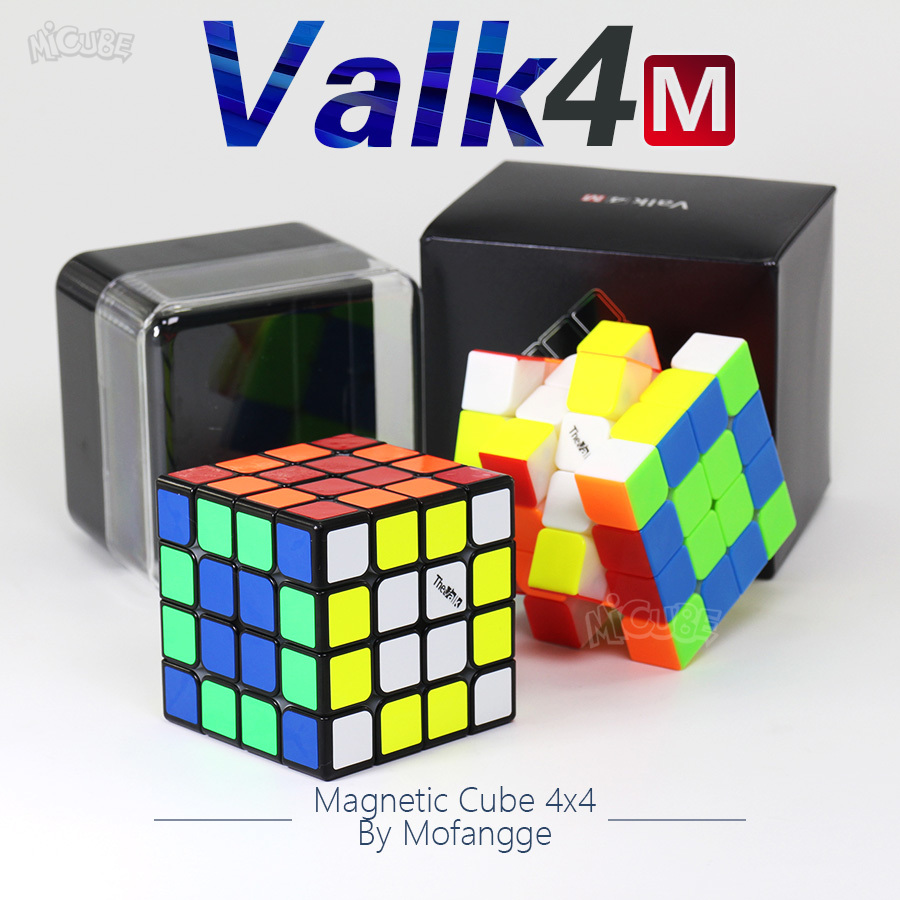 Valk4M Valk4 M Magnetic Cube 4x4 Speed Magic Speed Cube 4x4x4 Strong Magnet Cubo Magico Qiyi Valk 4 Magnets Puzzle Children Toys