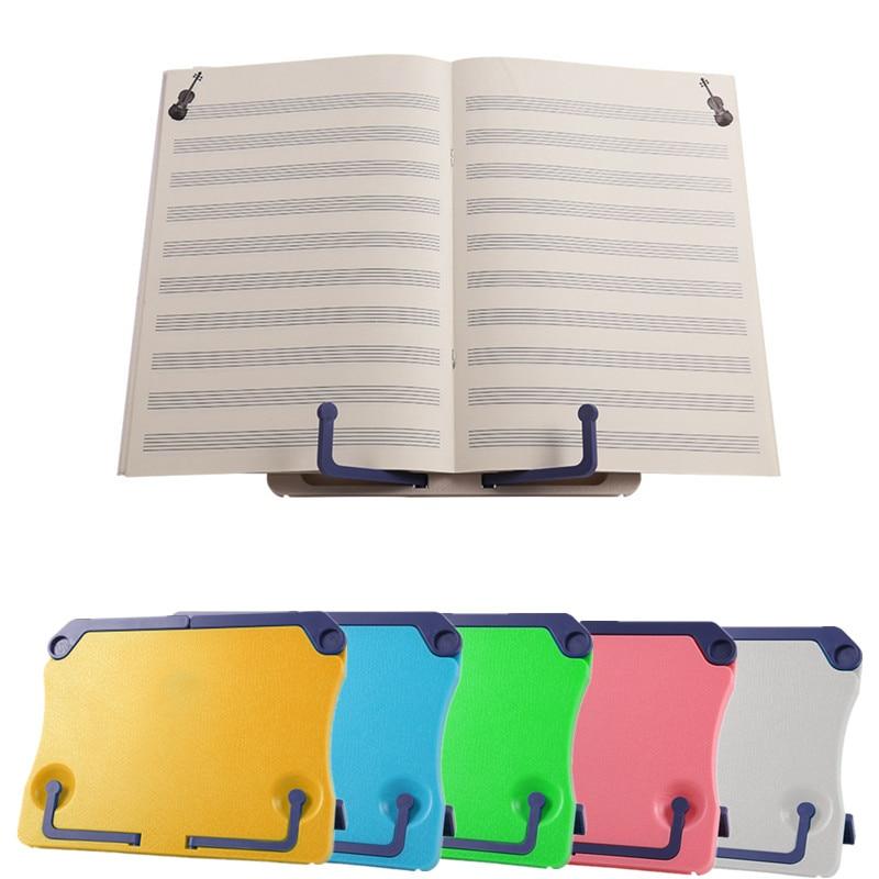 Portable Antiskid Table Books Holder Folding Adjustable Music Stands Tablet Rack Shelf