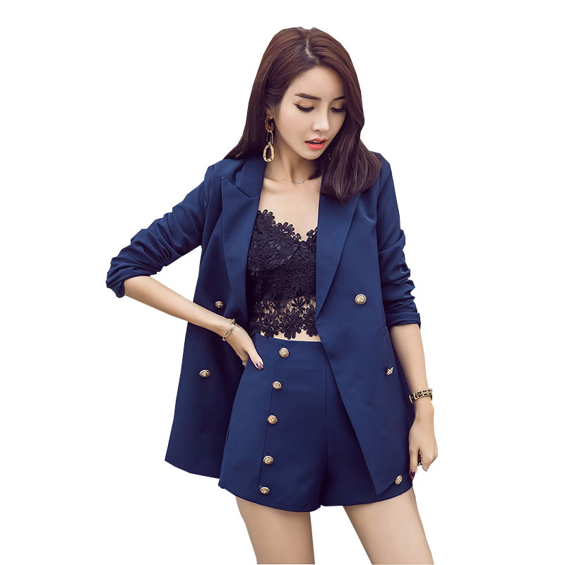 Version La Deux 3 Femmes Tempérament 1 Plus De Tweed Ensembles Mince Vêtements Costume Nouveau Couleur Pièces 2019 Coréenne Taille 2 Solide Ensemble TrRAqw8xT