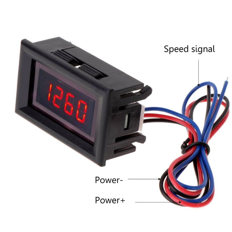 Red LED car motorcycle digital tachometer and engine tachometer tachometer with battery overvoltage alarm 10166
