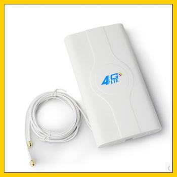 LF-ANT4G01 Indoor high gain  4G LTE MIMO Antenna with  2m cable  double Connector SMA-male indoor high gain 700 2600mhz 4g lte mimo antenna with 2 pcs 2m cable with crc9 sma ts 9 male connector