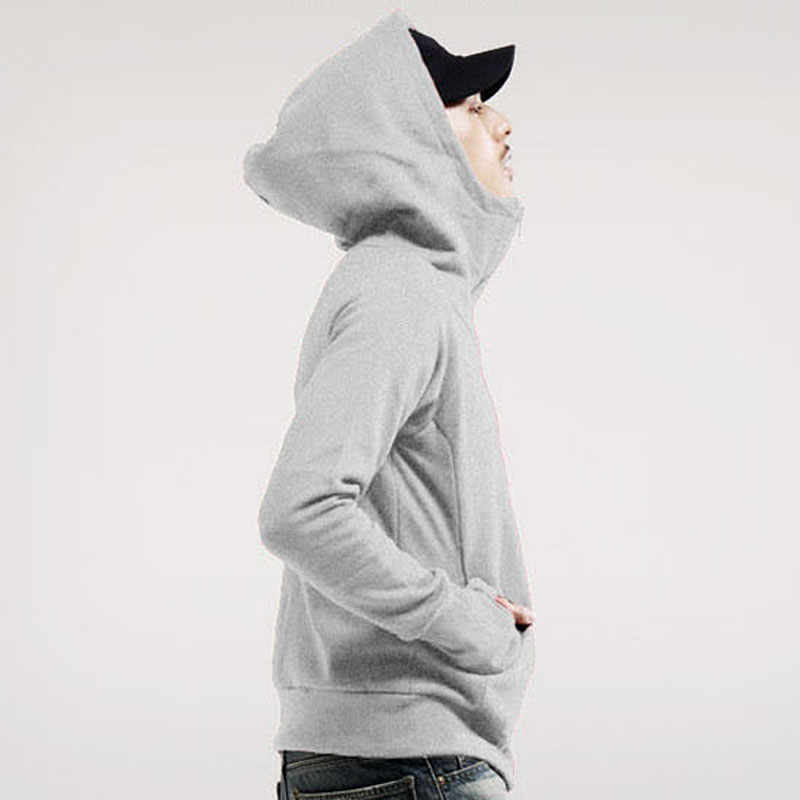 Droppshiping Autumn Winter Men Sweatshirts Hooded Long Sleeve Solid Color Coat Warm Pocket Zipper Casual Jacket Man Clothing dg8(China)