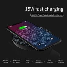 Nillkin powerflash 15 w qi carregador rápido para samsung nota 10 mais s9 s10 carregador sem fio para iphone 11 pro xs max huawei companheiro 20