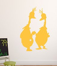 Custom cartoon Bird Wall Stickers Home Furnishing Decorative Vinyl Mural Wallpaper Background Wall Art Decal adesivo de parede цена