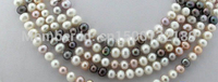FREE SHIPPING>>>@ j005452 100 8mm white black pink freshwater pearl necklace new