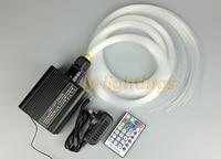 Diy fiber optik ışık kiti ev dekorasyon optik fiber celing ışık cree rgbw led kablosuz uzaktan flash solmaya atlama modu