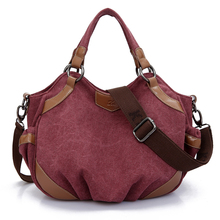 Kvky 2016 marca de lujo de la vendimia hembra de 3 colores shopper crossbody bolso de la lona bolsos de las mujeres bolsos ocasionales de gran capacidad