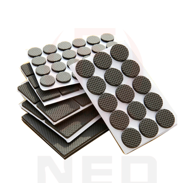 NAIERDI 3Sets 1 24PC Self Adhesive Furniture Leg Feet Non Slip Rug Felt Pads  Anti