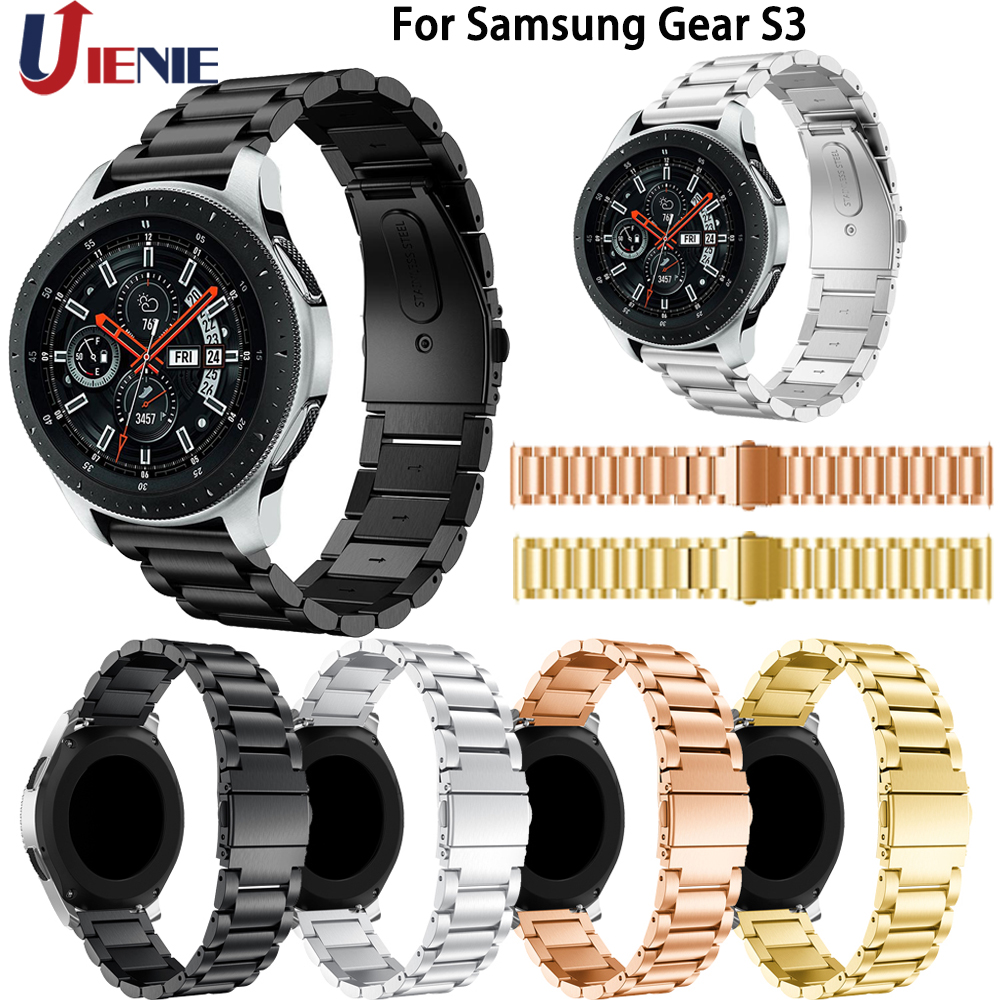 Watchband Strap for Samsung Gear S3/ Galaxy Watch 46mm Smart Watch Band 22mm Stainless Steel Bracelet for Huawei Watch GT 2