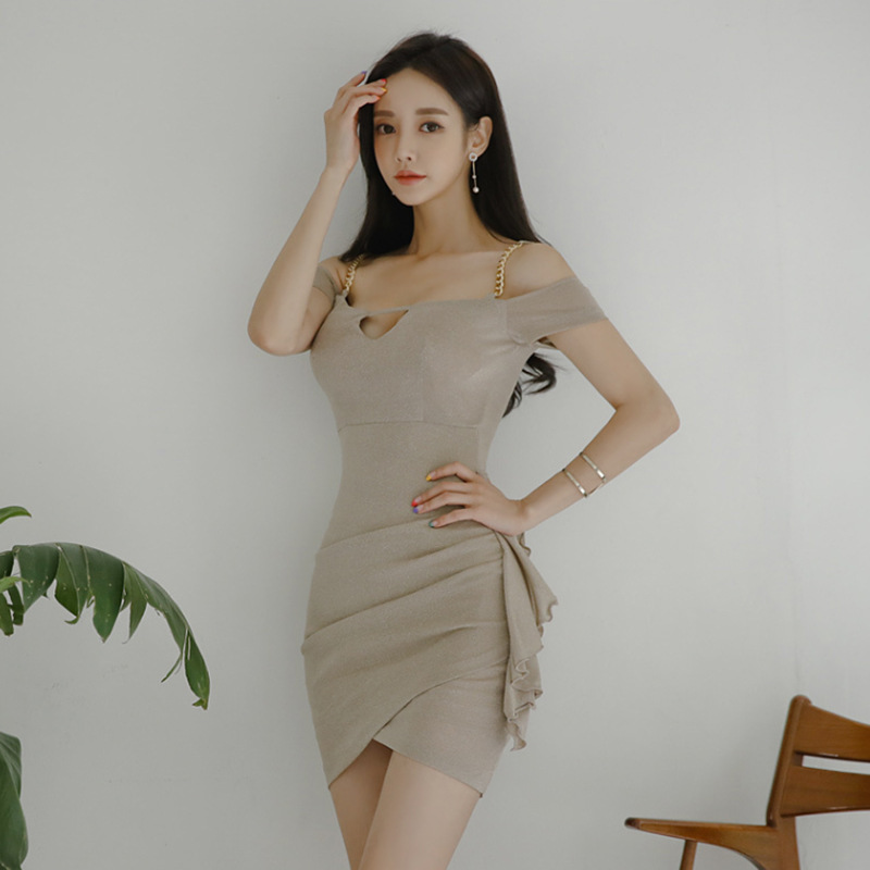Купить женское платье на тонких бретельках клубное облегающее мини