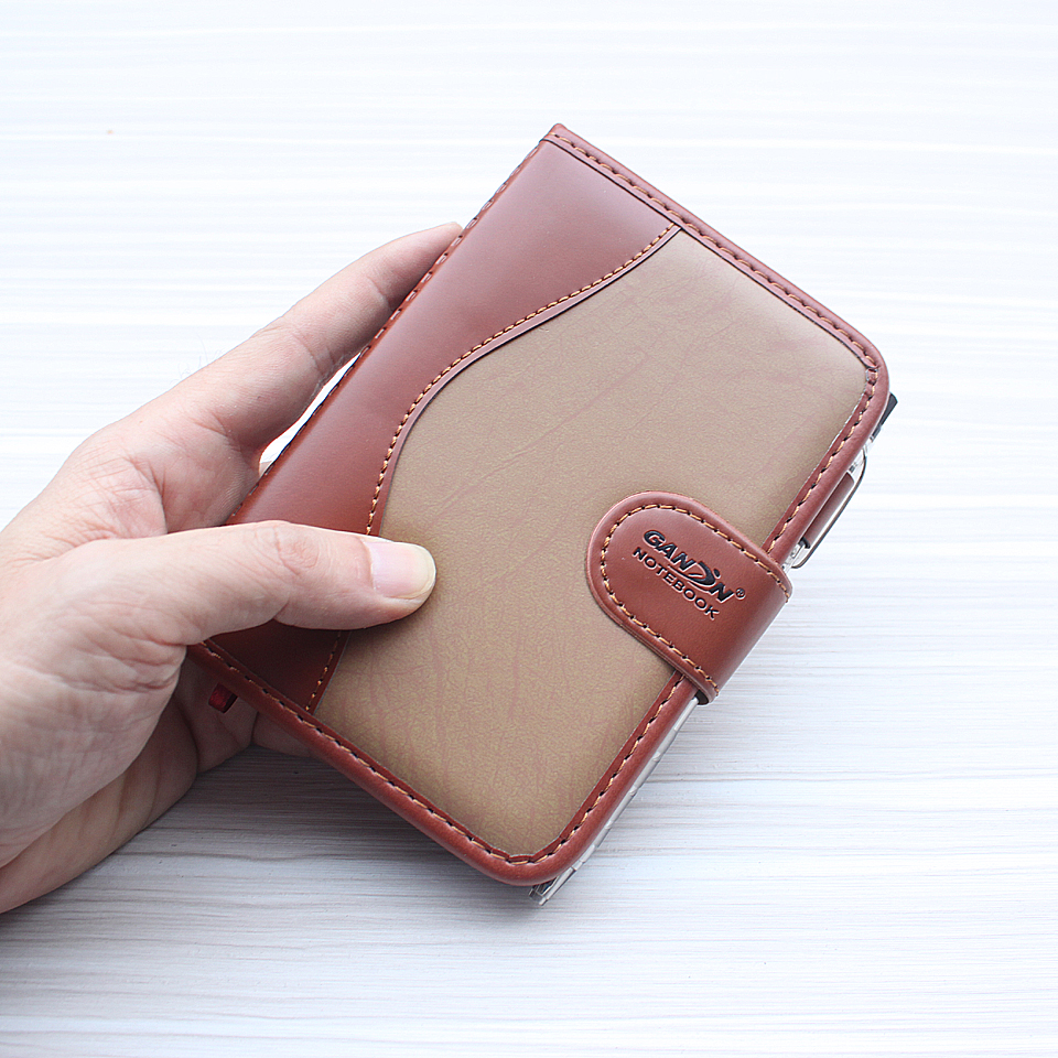 A6 Small Business Notebook Retro-style Leather Notebook Office Learning Notepad Comes With a Ball Pen Planner For Stationery a6 small business notebook retro style leather notebook office learning notes notebook comes with a pen