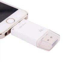 USB флеш-накопитель для iPhone 6 6plus 5 5s ipad металлическая ручка-накопитель карта памяти двойной мобильный Otg Micro 8 ГБ 16 ГБ 32 ГБ 64 Гб флешка