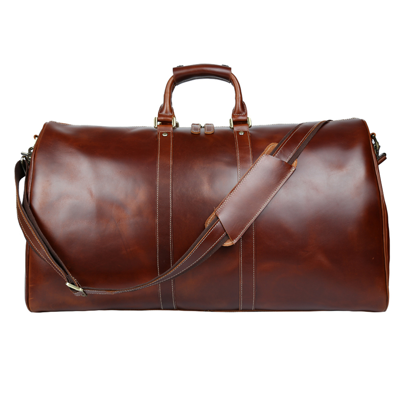 ff95ee427a01 Baigio Men Travel Bag Leather Bag Vintage Brown Designer Travel Overnight  Tote Large Capacity Luggage Bag Shoulder Travel Bag