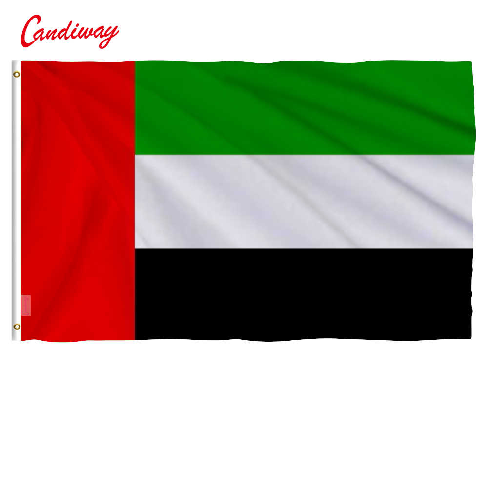 3x5feet United Arab Emirates Flag UAE Country Banner Pennant 90*150cm Hanging Office/parade/Festival/Home Decoration NN075